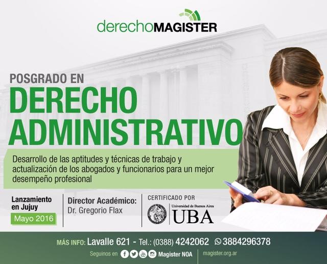 Curso de posgrado en Derecho Administrativo