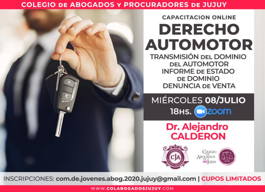 Capacitación online para matriculados en Derecho Registral del Automotor