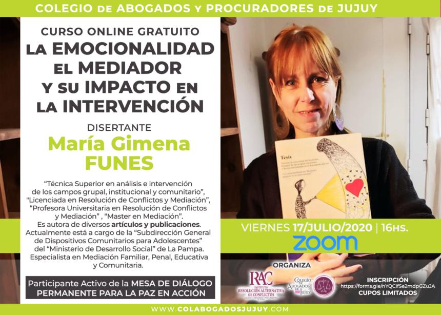 CLASE ONLINE: LA EMOCIONALIDAD DEL MEDIADOR Y SU IMPACTO EN LA INTERVENCIÓN.