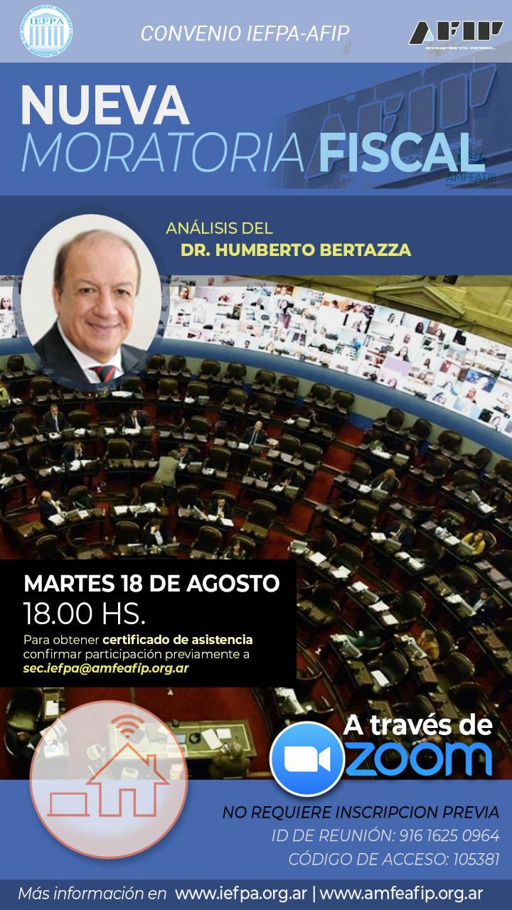 Conferencia virtual de Moratoria Fiscal