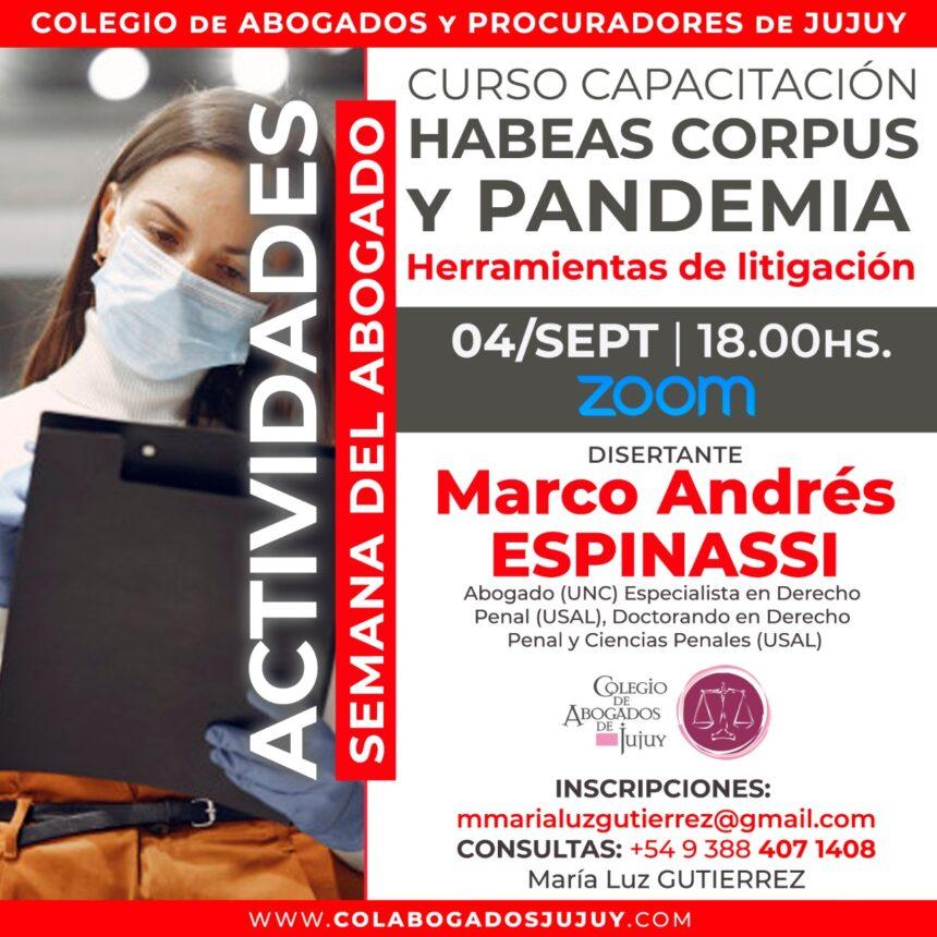 Curso capacitación: Habeas Corpus y Pandemia