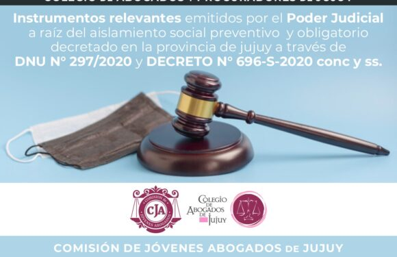 La Comisión de Jóvenes Abogados pone a disposición un compendio de resoluciones, acordadas y comunicados del Poder Judicial