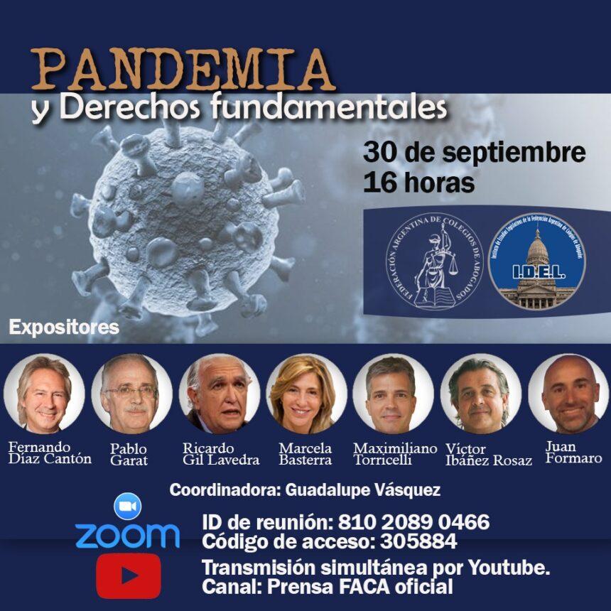 Charla sobre Pandemia y Derechos fundamentales de F.A.C.A.