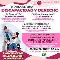 CHARLA ABIERTA: DISCAPACIDAD Y DERECHO