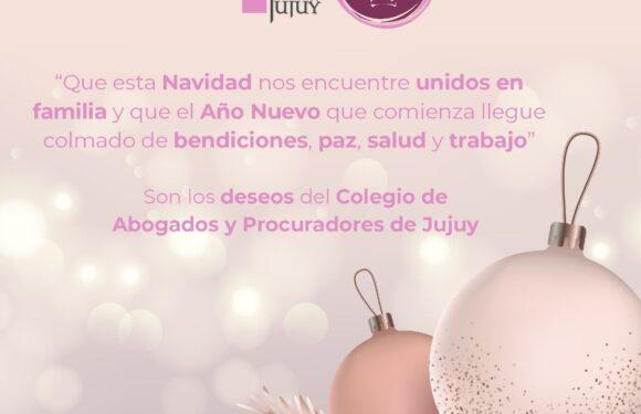 ¡El Colegio de Abogados de Jujuy les desea Felices Fiestas!