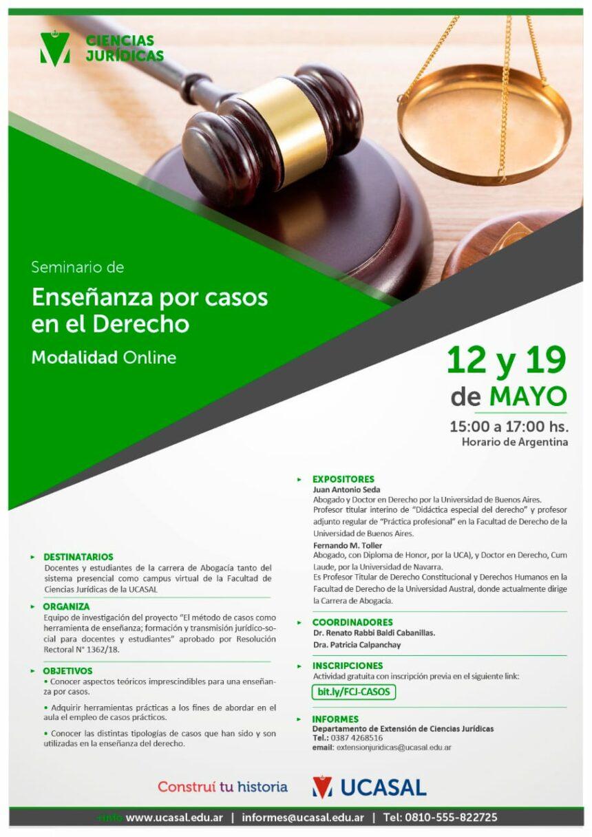 """Seminario:  """"Enseñanza por casos en el derecho"""""""