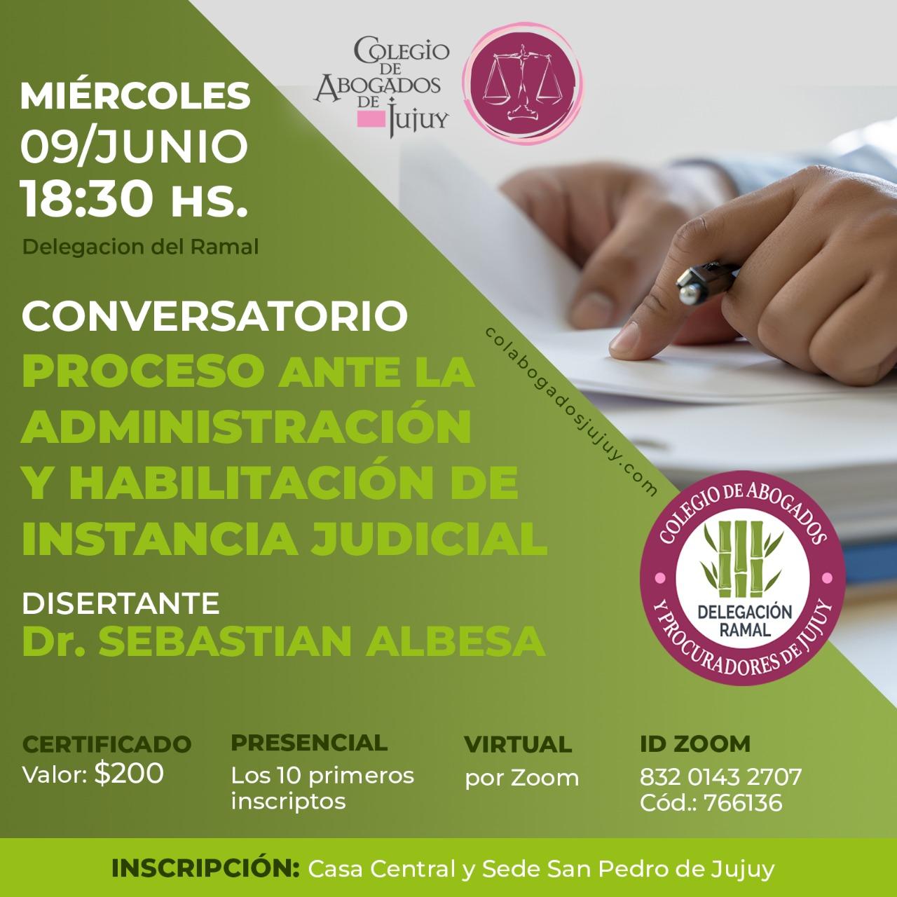 Conversatorio: Proceso ante la administración y habilitación de instancia judicial